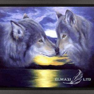 целувката над залеза,diamantengoblen.com,диамантен гоблен,вълци