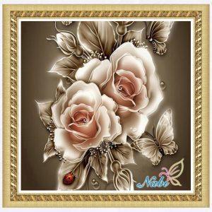 Flowerflower-pe-nias-cone-0174R-Rodada-Diamante-bordado-ponto-cruz-5d-strass-diy-diamante-pintura-mosaico.jpg_640x640