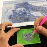 Работа с моливче от комплекта Диамантен Гоблен