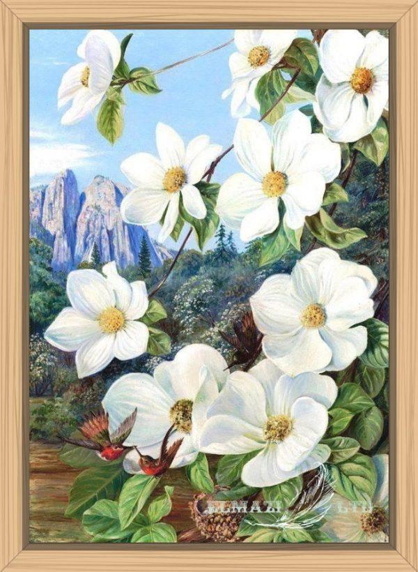 любовта на колибрито,diamantengoblen.com,диамантени гоблени,цветя
